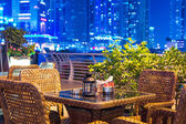 Outdoor city restaurant — Foto Stock