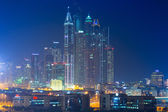 Skyscrapers of Dubai Marina at night — Foto Stock