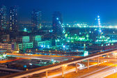 Technology park of Dubai Internet City at night — Stock Photo