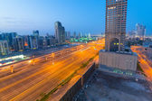 Cars on Sheikh Zayed Road in Dubai — Stock Photo