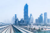 Metro line in Dubai — Stock Photo