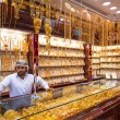 "Gold on the famous ""Golden souk"" in Dubai — Stok fotoğraf"