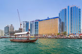 Port Saeed along Deira's shore of Dubai Creek — Stock Photo