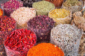 Spices and herbs on the market — Stock Photo