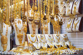 "Gold on the famous ""Golden souk"" in Dubai — Foto Stock"