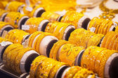 "Gold on the famous ""Golden souk"" in Dubai — Stock Photo"
