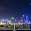 ������, ������: Skyscrapers of Dubai Marina at night UAE