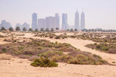 Sandy scenery od Dubai at the Jumeirah Beach — Stock Photo