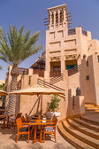 Architecture of Madinat Jumeirah resort in Dubai — Stok fotoğraf