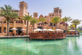 Architecture of Madinat Jumeirah resort in Dubai — Стоковое фото