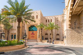 Architecture of Madinat Jumeirah resort in Dubai — Stock Photo