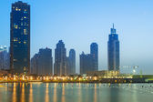 Downtown of Dubai at dusk — Foto de Stock