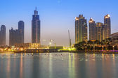 Downtown of Dubai at dusk — Stock Photo