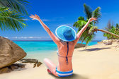 Happiness on tropical summer holidays — Stockfoto