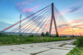 Cable stayed bridge in Gdansk — Stok fotoğraf