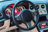 Sport car interior — Stock Photo