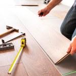 New wooden floor instalation — Stock Photo #50165031