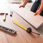 New wooden floor instalation — Fotografia Stock  #50165053