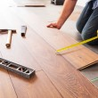 New wooden floor instalation — Stock Photo #50165069