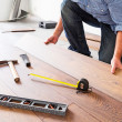 New wooden floor instalation — Stock Photo #50165073