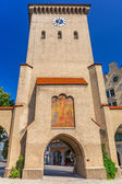 The Isartor gate of the medieval city wall in Munich — Stock Photo