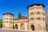 The Isartor gate of the medieval city wall in Munich — Stockfoto