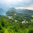 Hohenschwangau village and castle in the Bavarian Alps — Stock Photo #50458213