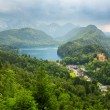 Hohenschwangau village and castle in the Bavarian Alps — Stock Photo #50458265