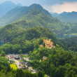 Hohenschwangau village and castle in the Bavarian Alps — Stock Photo #50458371