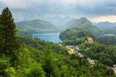 Hohenschwangau village and castle in the Bavarian Alps — Stock Photo