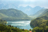 Alpsee lake in the Bavarian Alps — Stock Photo