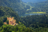 Hohenschwangau Castle in the Bavarian Alps — Stock Photo