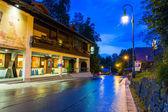Hohenschwangau köyü, almanya bavyera mimarisi — Stok fotoğraf