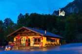 Bavarian architecture of Hohenschwangau village, Germany — Stock Photo