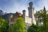 新天鹅城堡在巴伐利亚阿尔卑斯山 — 图库照片