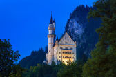 Neuschwanstein Castle at night — Stock Photo