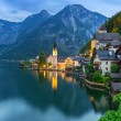 Hallstatt village in Alps at dusk — Photo #50933961