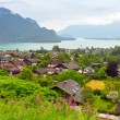 Village scenery in Alps mountains — Stock Photo #50934127