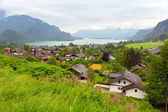 Village scenery in Alps mountains — Stock Photo