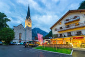 Streets of Hallstatt at dusk, Austria. — Stock Photo