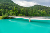 Turquise water of Lech river — Stock Photo