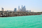 Public beach with turquoise water in Dubai — Stock Photo