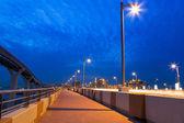 Pathway to the Palm Jumeirah island in Dubai — Stock Photo