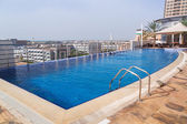 Pool area of The Grand Midwest Tower Hotel in Dubai — Stock Photo