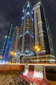 Skyscrapers of Dubai Marina at night, UAE — Stock Photo