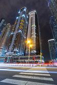 Cityscape of Dubai at night — Stock Photo