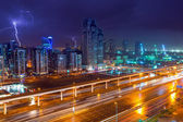 Thunderstorm in Dubai Internet City, UAE — Stock Photo