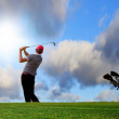 Playing on the idyllic golf course — Stock Photo #7346839