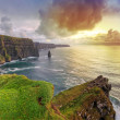 Cliffs of Moher at sunset — Stock Photo #8165847