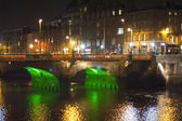 A bridge in Dublin at night — Stock Photo